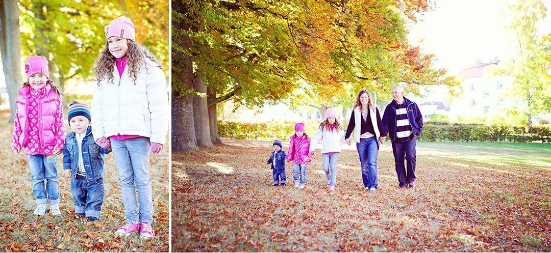Höstlig familjefotografering Jönköping