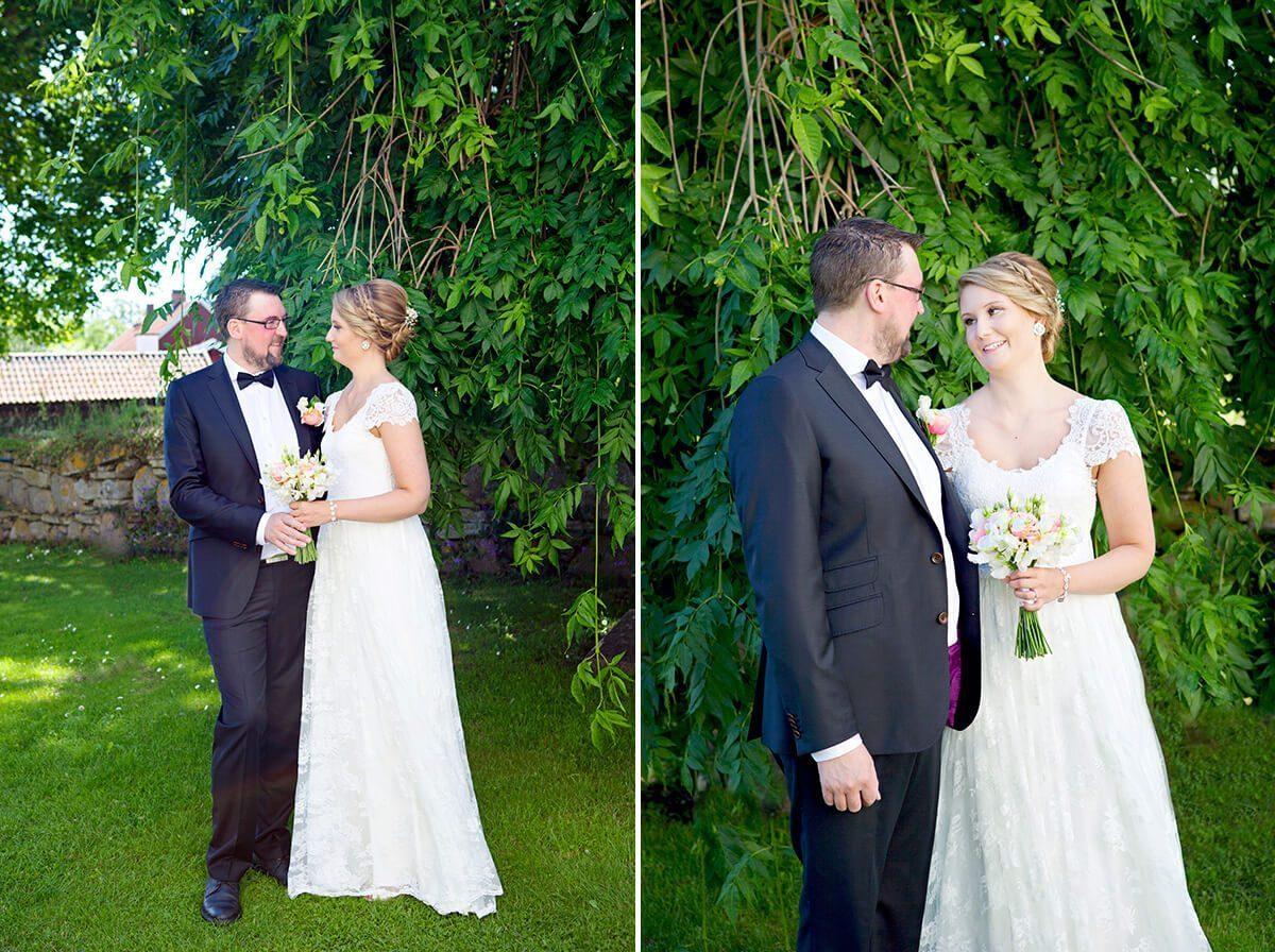 bröllopsfotografering på Visingsö